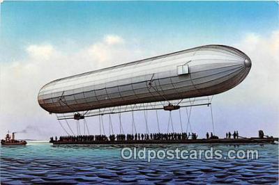tra004192 - Der erste Aufstieg eines Zeppelinluftschiffes