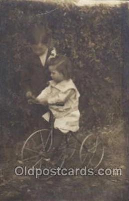 tra005044 - Chidren on Bicycles, tricycles postcard postcards