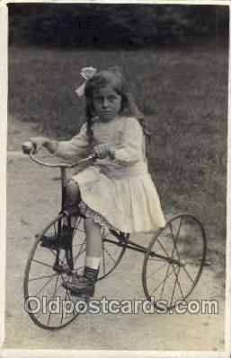 tra005049 - Chidren on Bicycles, tricycles postcard postcards