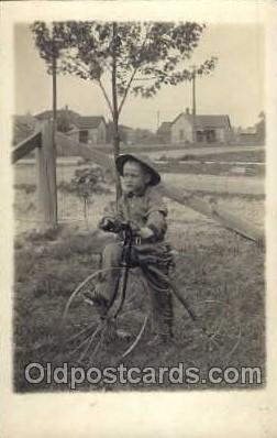 tra005050 - Chidren on Bicycles, tricycles postcard postcards
