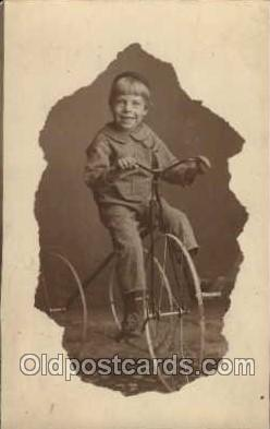 tra005052 - Chidren on Bicycles, tricycles postcard postcards