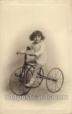 tra005054 - Chidren on Bicycles, tricycles postcard postcards