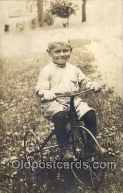 tra005057 - Chidren on Bicycles, tricycles postcard postcards