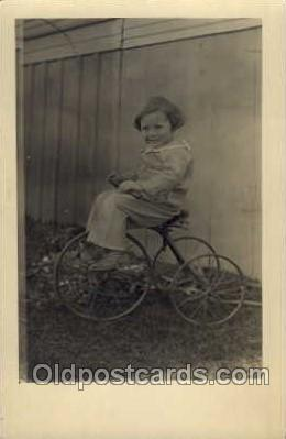 tra005074 - Chidren on Bicycles, tricycles postcard postcards