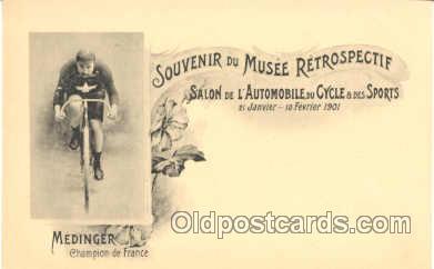 tra005150 - Souvenir Du Musee Retrospectif, Medinger Champion De France, Cycling, Bicycle Bike Postcard postcards