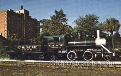 tra006012 - C&MW, Charleston, SC, USA Train Trains, Postcard Postcards