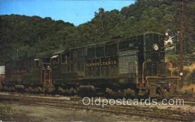 tra006014 - Pennsylvania 8717 Train Trains, Postcard Postcards