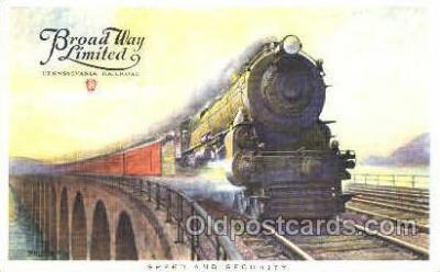 tra006028 - Broad Way Limited, Pennsylvania, USA Train Trains, Postcard Postcards