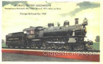 tra006035 - Pennsylvania  Railroad # 7002 Train Trains, Postcard Postcards