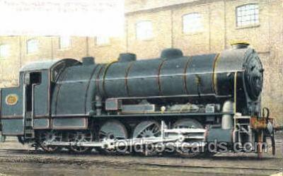 tra006036 - Coupled Tank Decapod Train Trains, Postcard Postcards