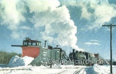 tra006042 - Canadian Pacific Railway, Houlton, ME, USA Train Trains, Postcard Postcards