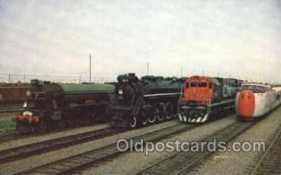 tra006063 - Canadian National RW Train Trains, Postcard Postcards