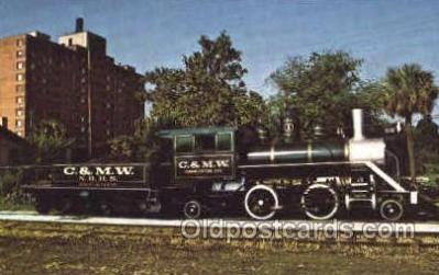 tra006064 - C&MW, Charleston, SC, USA Train Trains, Postcard Postcards
