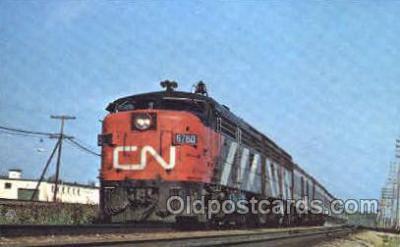 tra006080 - Canadian National 6760 Train Trains, Postcard Postcards