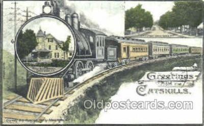 tra006083 - Catskills, Grand Gorge Train Trains, Postcard Postcards