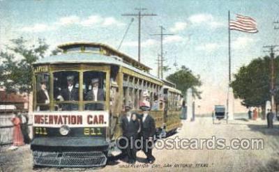 tra006130 - Observation Car, Antonio, Texas, Usa Train Trains Locomotive, Steam Engine,  Postcard Postcards