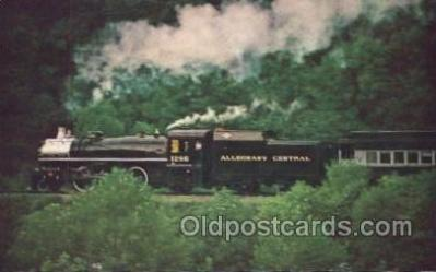tra006137 - Alleghany Central Train Trains Locomotive, Steam Engine,  Postcard Postcards