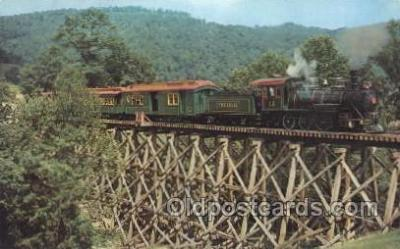 tra006145 - Tweetsie Railroad Train Trains Locomotive, Steam Engine,  Postcard Postcards