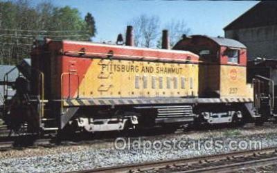 tra006164 - Pittsburg and Shawmut Railroad Train Trains Locomotive, Steam Engine,  Postcard Postcards