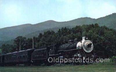 tra006168 - Southwest Virginia USA Scenic Railroad Train Trains Locomotive, Steam Engine,  Postcard Postcards
