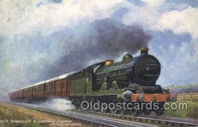 tra006182 - Liverpool Express Train Trains Locomotive, Steam Engine,  Postcard Postcards