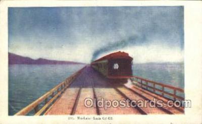 tra006199 - Mid Lake Train Trains Locomotive, Steam Engine,  Postcard Postcards