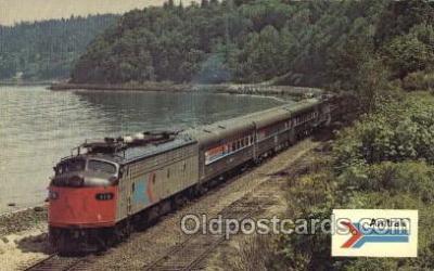 tra006213 - Amtrak Train Trains Locomotive, Steam Engine,  Postcard Postcards