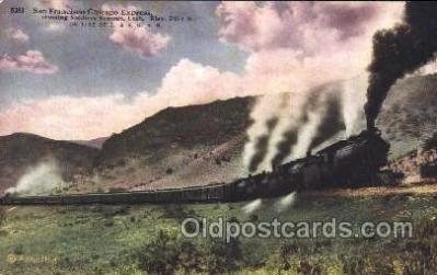 tra006221 - San Francisco Chicago Express Train Trains Locomotive, Steam Engine,  Postcard Postcards