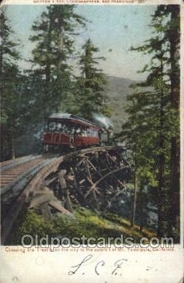 tra006226 - California, Usa Train Trains Locomotive, Steam Engine,  Postcard Postcards