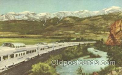 tra006232 - Diesel-Powered Train Trains Locomotive, Steam Engine,  Postcard Postcards