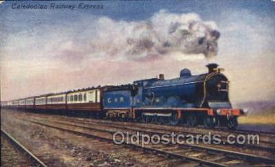 tra006239 - Caledonian Railway Express Train Trains Locomotive, Steam Engine,  Postcard Postcards