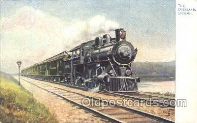 tra006240 - The Overland Limited Train Trains Locomotive, Steam Engine,  Postcard Postcards