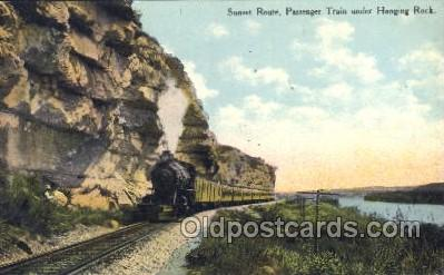 tra006242 - Sunset Route, Hanging Rock Train Trains Locomotive, Steam Engine,  Postcard Postcards