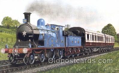 tra006243 - Caledonian Railway Express Train Trains Locomotive, Steam Engine,  Postcard Postcards