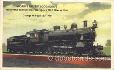 tra006247 - Pennsylvania, Usa Train Trains Locomotive, Steam Engine,  Postcard Postcards