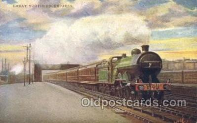 tra006252 - Great Northern Express Train Trains Locomotive, Steam Engine,  Postcard Postcards
