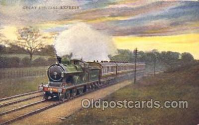tra006253 - Great Northern Express Train Trains Locomotive, Steam Engine,  Postcard Postcards
