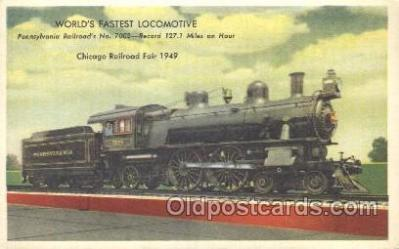 tra006256 - Pennsylvania, Usa Train Trains Locomotive, Steam Engine,  Postcard Postcards