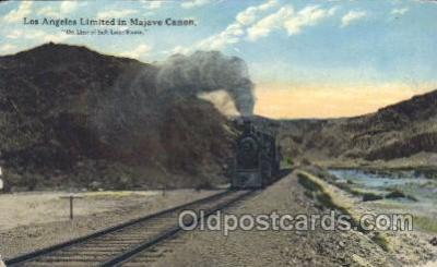 tra006257 - Los Angeles limited Train Trains Locomotive, Steam Engine,  Postcard Postcards