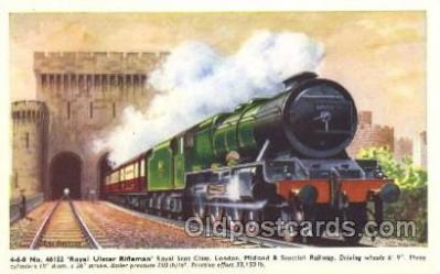 tra006261 - Royal Ulster Rifleman Train Trains Locomotive, Steam Engine,  Postcard Postcards