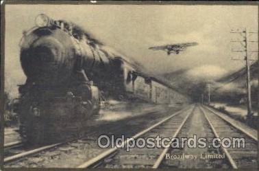 tra006264 - Broadway Limited Train Trains Locomotive, Steam Engine,  Postcard Postcards