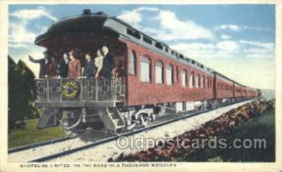 tra006270 - Shoreline limited Train Trains Locomotive, Steam Engine,  Postcard Postcards