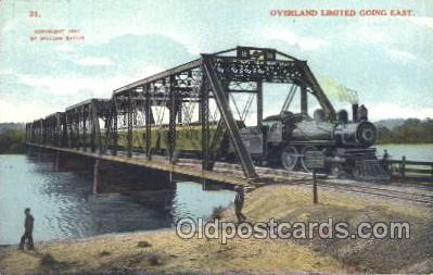 tra006274 - Overland Limited Train Trains Locomotive, Steam Engine,  Postcard Postcards
