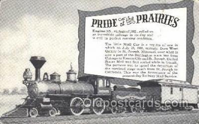 tra006278 - Pride of the Prairies Train Trains Locomotive, Steam Engine,  Postcard Postcards