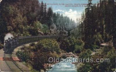 tra006281 - Sacramento River Canyon, California, Usa Train Trains Locomotive, Steam Engine,  Postcard Postcards