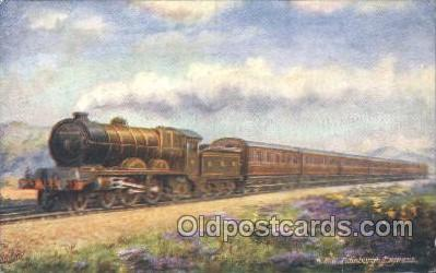 tra006282 - North British Railway, Edinburgh Express Train Trains Locomotive, Steam Engine,  Postcard Postcards