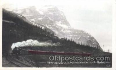tra006293 - Trans Canada Limited Near Yoho British Columbia, Train Trains Locomotive, Steam Engine,  Postcard Postcards