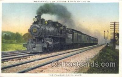 tra006298 - The Famous Royal Blue Train Trains Locomotive, Steam Engine,  Postcard Postcards