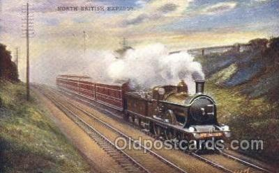 tra006304 - North British Express Train Trains Locomotive, Steam Engine,  Postcard Postcards