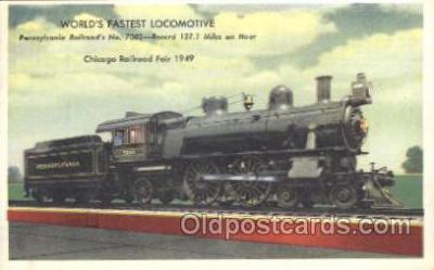 tra006308 - Pennsylvania Railroad Train Trains Locomotive, Steam Engine,  Postcard Postcards